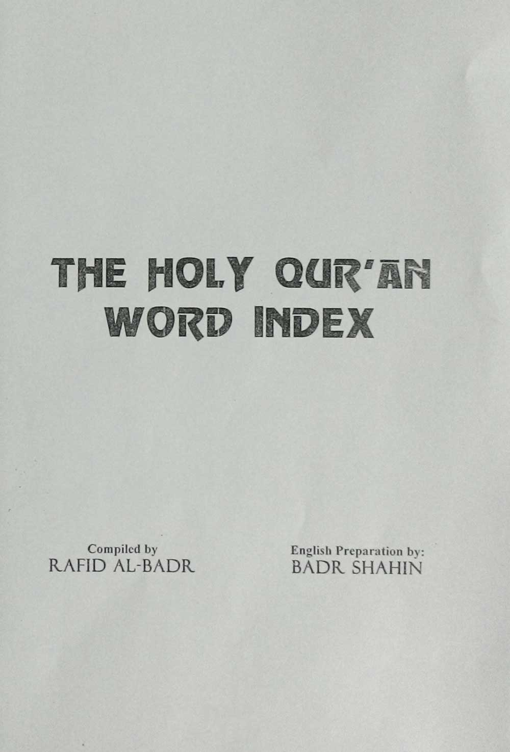 the holy quran word index